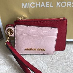 NWT Michael Kors leather smart card case duo